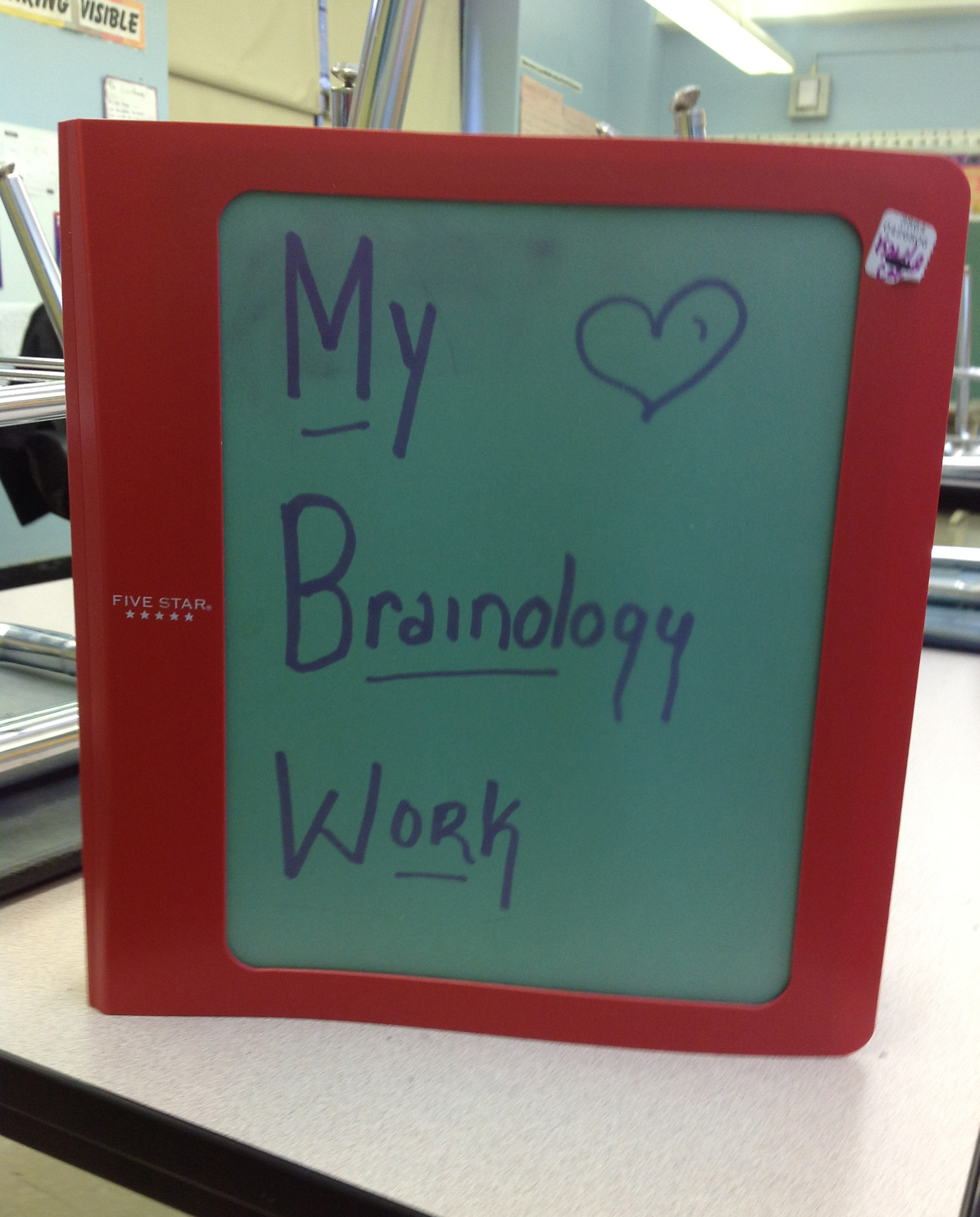 Brainology Binder